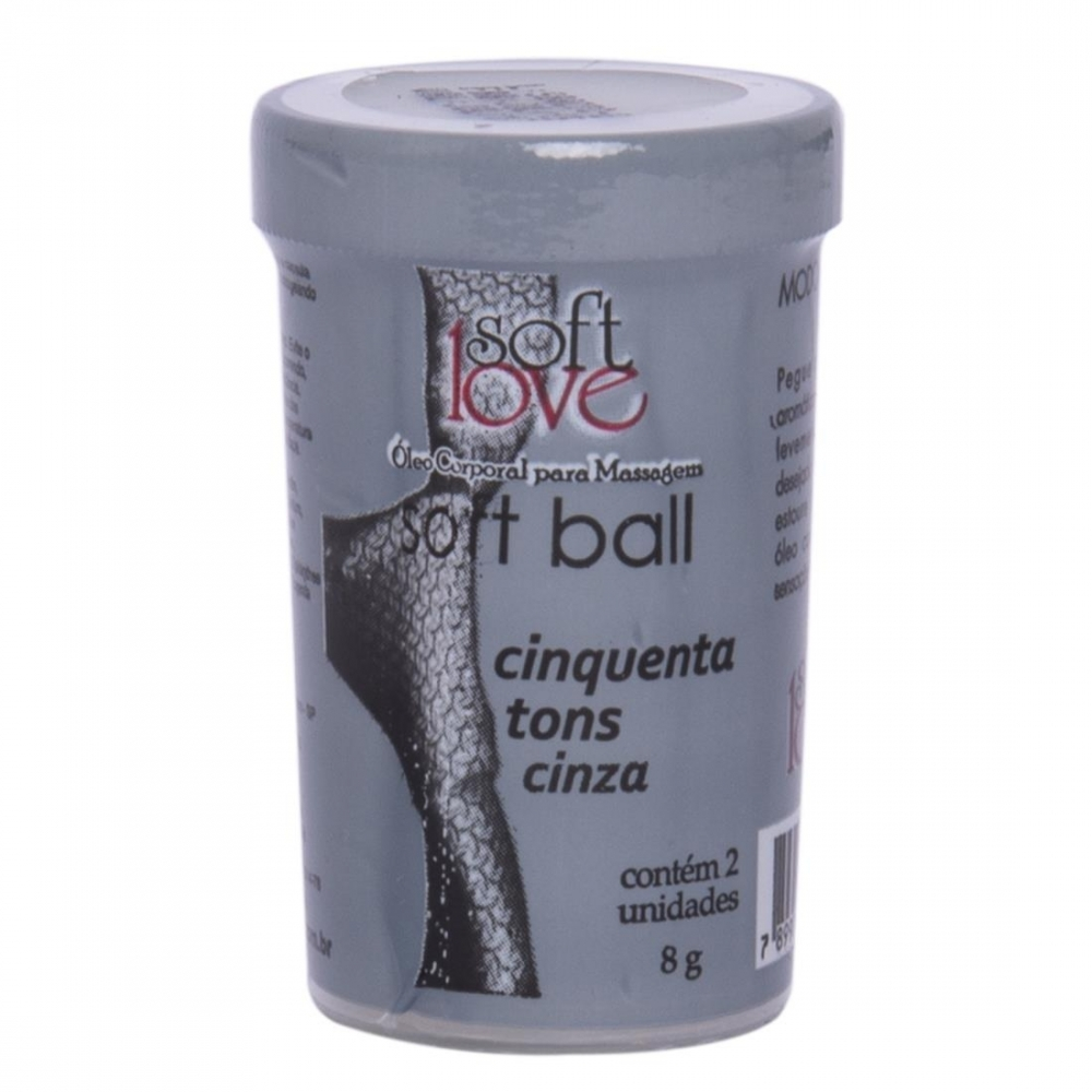 Soft Ball Bolinha 50 Tons De Cinza 02 Unidades - Soft Love