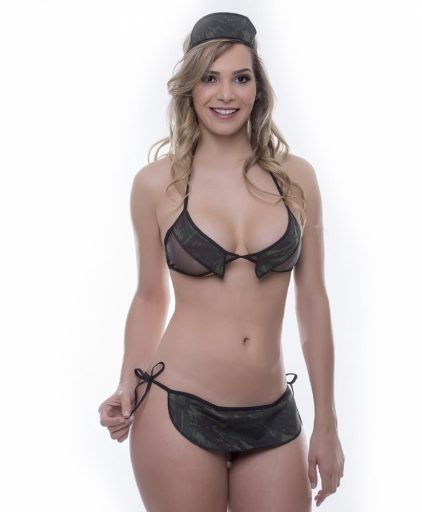 Kit Mini Fantasia Militar - Sensual Love