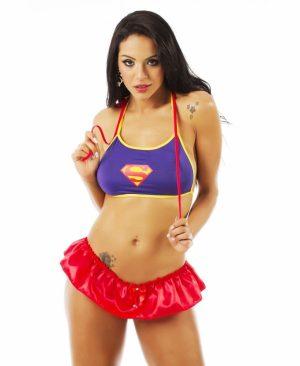 Kit Mini Fantasia Super Girl Pimenta Sexy