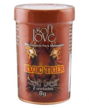 Soft Ball Bolinha Magic Tiger 8g 02 Unidades - Soft Love