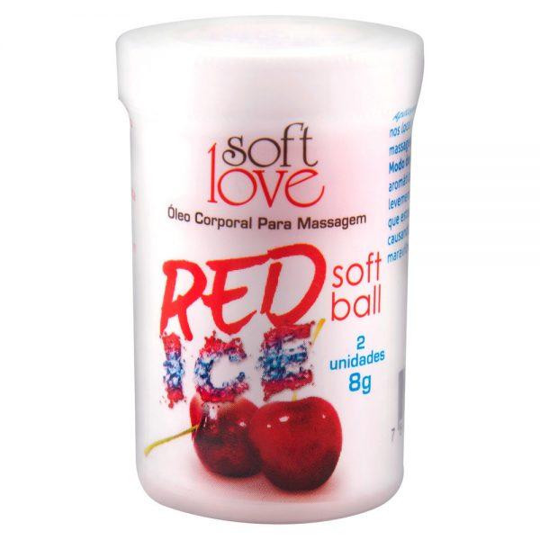 Soft Ball Bolinha Red Ice 8g 02 Unidades - Soft Love