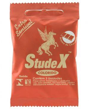 Preservativo Chocolate Com 3 Unidades Studex