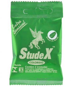 Preservativo Menta Com 3 Unidades Studex