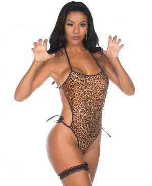 Body Animal Print Pimenta Sexy