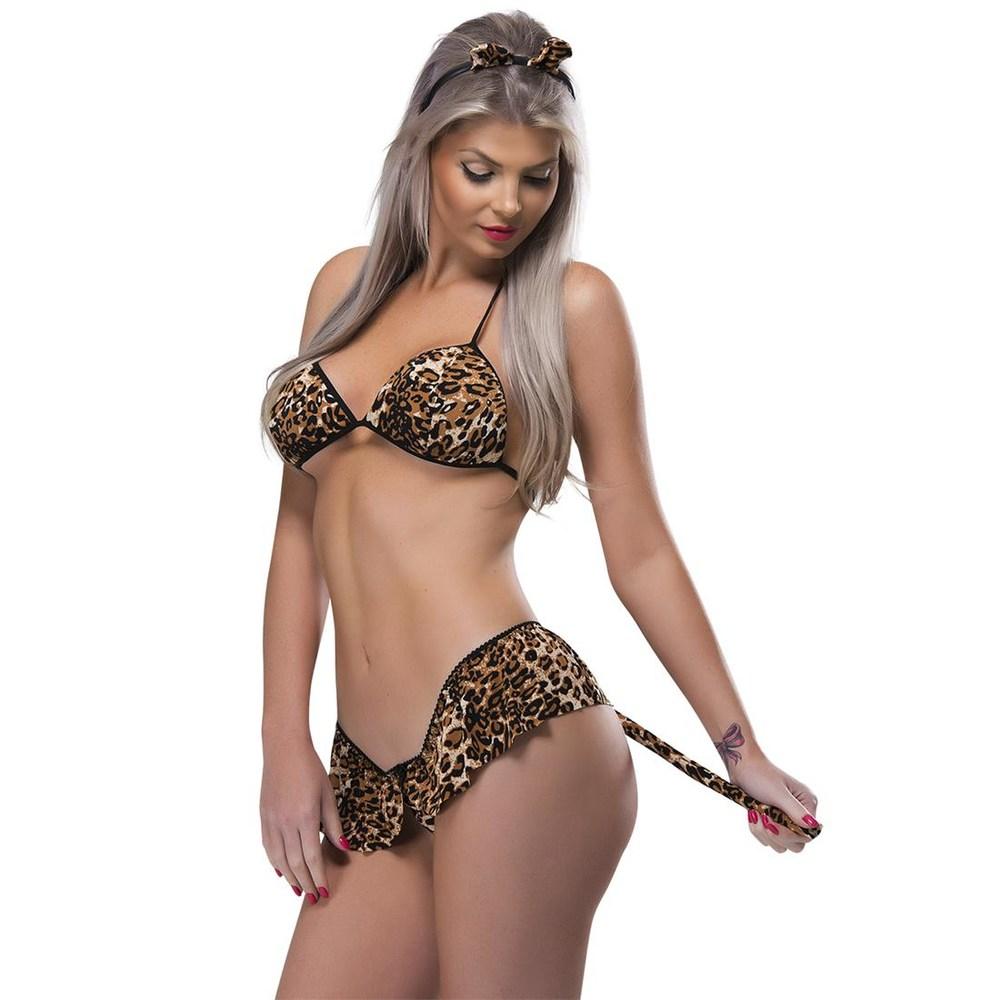 Kit Fantasia Desejos Tigresa Sexy Fantasy