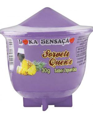 Vela Comestível Sorvete Quente 25g - Loka Sensação