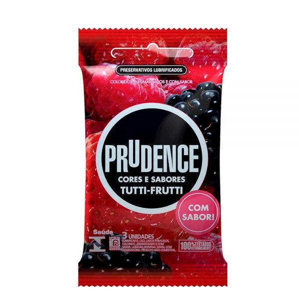 Preservativo Prudence Tutti Frutti com 3 Unidades
